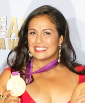 U.S. Olympian Brenda Villa, the most decorated athlete in the world of women's water polo.