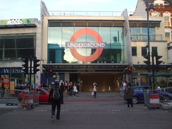 Brixton tube station entrance