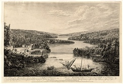 British raid on French settlement of Miramichi (later called Burnt Church, New Brunswick), 1758