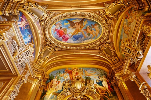 ceilings of the grand foyer