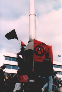 Australian Anarchist Centenary Celebrations on 1 May 1986 at the Melbourne Eight Hour Day monument