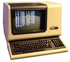 The DEC VT100, a widely emulated computer terminal