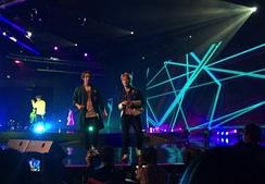 Beast performing at the Ordinary Fanmeet in Singapore 2015