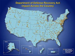 Impact of the ARRA on Department of Defense facilities across the nation.