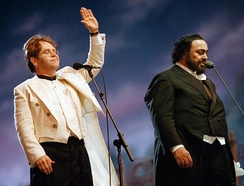Elton John and Pavarotti in Modena, 1996