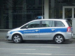 Car of the Stadtpolizei in Frankfurt