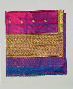 Silk sari from India (1970, Collection of PFF, Nauplio).