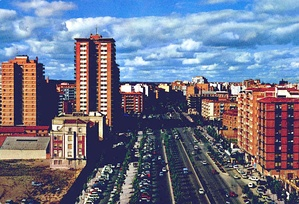 "The ""Paseo de Zorrilla"" (English: The Zorrilla's Mall) in the 1970s."