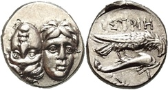 Coin issued by the Greek coastal city of Histria (Sinoe)
