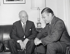 McNamara with Australian Prime Minister Harold Holt at The Pentagon in July 1966