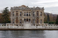 Built by Ottoman sultans Abdülmecid and Abdülaziz, the 19th-century Dolmabahçe, Çırağan, Beylerbeyi and Küçüksu palaces on the European and Asian shores of the Bosporus were designed by members of the Armenian Balyan family of court architects.[146]
