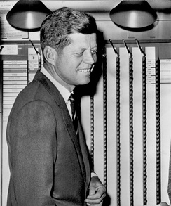 Kennedy cast his ballot at his polling place at a branch of the Boston Public Library.