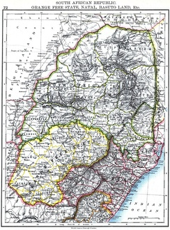"In this map of Southern Africa from 1896, Eswatini is labelled as ""SWAZILAND"""