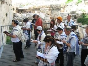 A mixed-gender, egalitarian Conservative service at Robinson's Arch, Western Wall