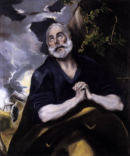 Repentance of Peter by El Greco, 1580–1586.