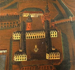 Lauenburg Castle at the end of the 16th century