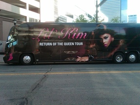 Lil' Kim's tour bus from her Return of the Queen Tour, photographed in 2012