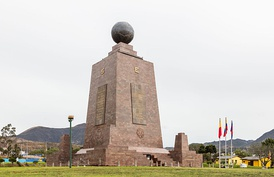 The monument at the equator (La Mitad del Mundo)