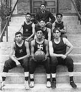 Chilocco Indian Agricultural School basketball team in 1909.