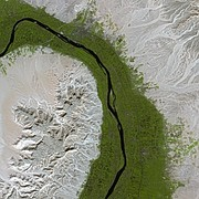The Nile at Dendera, as seen from the SPOT satellite.