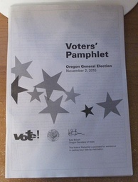 Voters' pamphlet for the 2010 general election