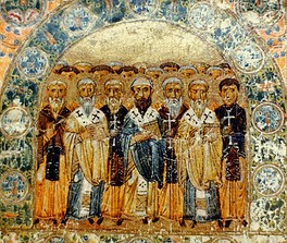 The Church Fathers in an 11th-century depiction from Kiev
