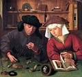 Flemish painting, The Money Changer and His Wife, Quentin Massys, 1514