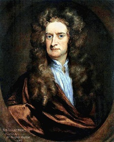 Portrait of Isaac Newton from 1702