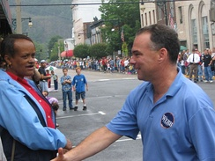 Kaine at the CovingtonLabor Day Parade in Virginia, September 4, 2006