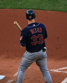 Nixon with the Cleveland Indians in 2007