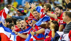 Costa Rica supporters at the 2014 FIFA World Cup in Brazil