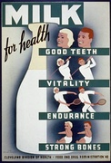 Federal Art Project poster promoting milk drinking in Cleveland, 1940