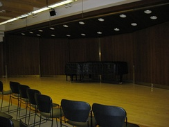 Morse Hall, one of the performing spaces inside the Juilliard School