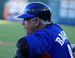 Wally Backman, manager of the Bisons in 2012