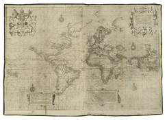 The Wright–Molyneux map of the world, showing the extent of English geographic knowledge c. 1600
