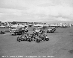 : 27th Fighter-Escort Wing F-84Gs at Hickam AFB, October 1952.