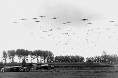 The 82nd Airborne Division drops near Grave (National Archives)