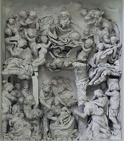 Baroque marble high-relief by Francesco Grassia, 1670, Rome