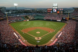 Angel Stadium (in Anaheim, California) is the home of the Los Angeles Angels.