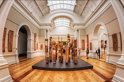 Indigenous art display at the Art Gallery of New South Wales