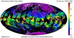 Mean atmospheric water vapor