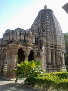 Ghateshwara Mahadeva temple at Baroli Temples complex. The complex of eight temples, built by the Gurjara-Pratiharas, is situated within a walled enclosure.