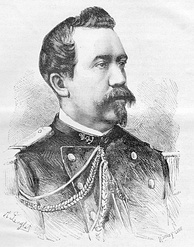 Chef de bataillon Berthe de Villers (1844–83), mortally wounded at Paper Bridge