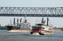 The steamboat Natchez operates out of New Orleans.