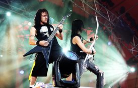 Bullet for My Valentine performing live in 2006