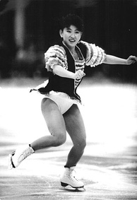 Midori Ito (seen here in 1989) lit the cauldron at the opening ceremony.