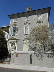 "Then-Senator Maybank sold the historic Col. John Stuart House in 1950, saying, ""I merely sold my large house because it is not fair for one of Charleston's oldest homes to be closed up 11 months during the year.""[4]"