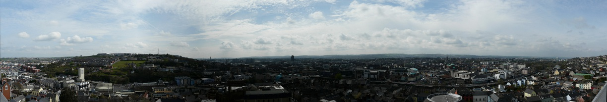 Panoramic view from the observation area of the bell tower