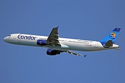Condor Airbus A321-200 wearing the former Thomas Cook Group livery