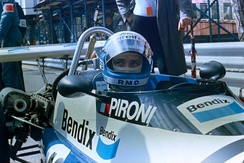Pironi as a Formula Two driver in 1977 at Monaco
